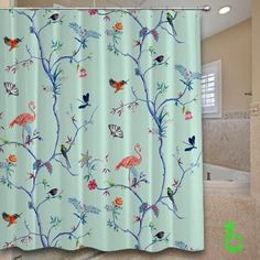 Cheap birds at summer Shower Curtain