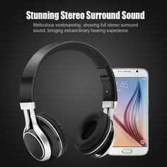 Auriculares fone Foldable Bass Stereo Headset Handsfree Headphones Fidelity music headphones With Mic For iPhone Mobile PC