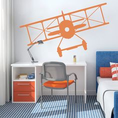 Vintage Plane Wall Decal #wallums