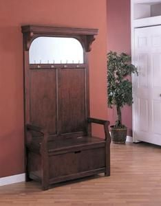 Coaster Cherry Hall Tree with Storage Bench and Mirror