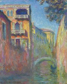 Rio de Santa Salute, Venice, Claude Monet. Oil on canvas, 64.8 x 81.3 cm. 1908. Private Collection.