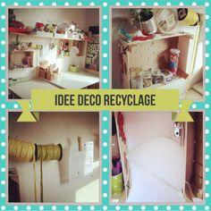 Petites idées pour optimiser un espace bureau :) #diy #recyclage #cagette