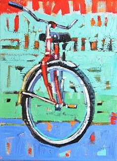 """""""Red Cruiser,"""" by Rene Wiley by Rene' Wiley Gallery Oil ~ 12 x 9"""