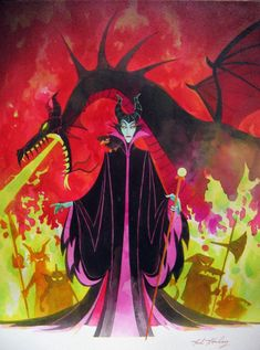 Maleficent, Sleeping Beauty and my favorite Disney villain! I feel she was just misunderstood! Art Disney, Disney Kunst, Disney Love, Disney Magic, Disney Pixar, Disney Wiki, Sleeping Beauty 1959, Sleeping Beauty Maleficent, Disney Sleeping Beauty