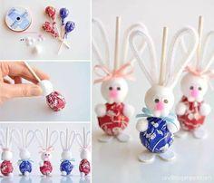 Crafts for kids- Easter Bunny Lollipops