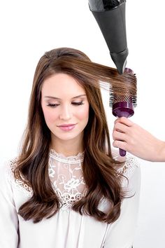 Image result for round brush blowdry