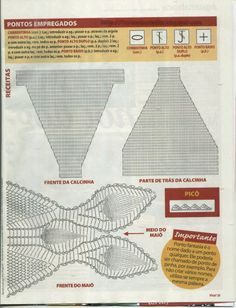 Irish lace, crochet, crochet patterns, clothing and decorations for the house, crocheted. Crochet Lingerie, Crochet Bra, Crochet Bikini Pattern, Swimsuit Pattern, Crochet Diagram, Crochet Woman, Crochet Chart, Crochet Clothes, Irish Crochet