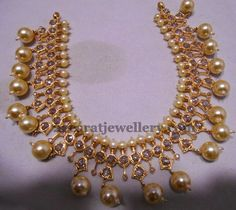 Latest Collection of best Indian Jewellery Designs. Pearl Jewelry, Bridal Jewelry, Antique Jewelry, Beaded Jewelry, Jewelery, Pearl Necklaces, Temple Jewellery, Gold Jewellery, India Jewelry