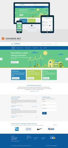 Umbraco CMS Starter Kit with Bootstrap theme - Synergy by uSkinned Corporate Website, Wordpress Theme, Imagination, Web Design, Business, Design Web, Fantasy, Store, Business Illustration