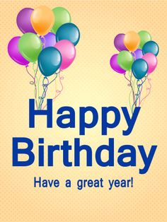 Birthday Balloon Decoration Card