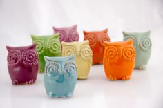 I love owls ❤  small ceramic owlet choose your color by claylicious on Etsy
