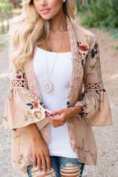 Plus Size Womens Boho Long Sleeve Lace Kimono Cardigan Ladies Summer Tops Blouse Kimono Shirt, Gilet Kimono, Kimono Cardigan, Chiffon Cardigan, Chiffon Jacket, Kimono Coat, Floral Cardigan, Kimono Floral, Lace Kimono