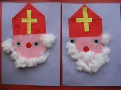 Sinterklaas met baard van watten