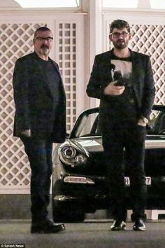 A night out: George Michael and his boyfriend Fadi Fawaz were seen out during a rare appearance together in Zurich, Switzerland recently
