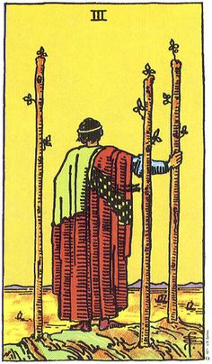 3 of Wands Uprightclimates.  The Three of Wands suggests growth, movement, expansion and developments.  Life has definitely changed gear after the Two.  There is a building momentum  as things begin to happen at a fast and furious pace.   You can't help but be carried away on this frenzied wave of positive activity  This card brings success and good fortune when it turns up in a reading.  You are bound to feel brimming over with self-confidence and self-belief.  You feel assured of what you…