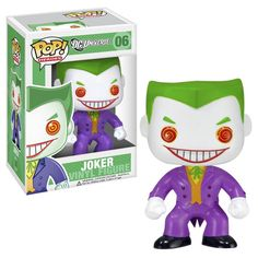 This is a Joker POP Vinyl figure produced by Funko. This is the DC Universe version of The Joker and he looks great in Funko POP Vinyl form. The DC Universe POP Heroes The Joker Vinyl Figure is a a cr O Joker, Joker Pop, Pop Batman, Joker And Harley, Harley Quinn, Funko Pop Figures, Pop Vinyl Figures, Superman, Dc Comics
