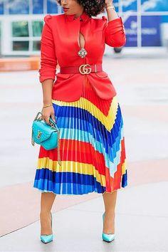 Fashion Pattern, Outfit Elegantes, Outfit Trends, Party Skirt, Chevron, Estilo Fashion, Body Con Skirt, Skirt Outfits, Denim Outfits