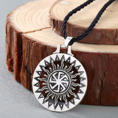 CHENGXUN Men Viking Pendant Necklace Kolovrat Sun Symbol Slavic Wheel Nordic Amulet Handmade Pagan Solar Celtic Talisman #Affiliate