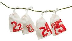 Printed Pouches Advent Calendar - modern - holiday decorations - Terrain