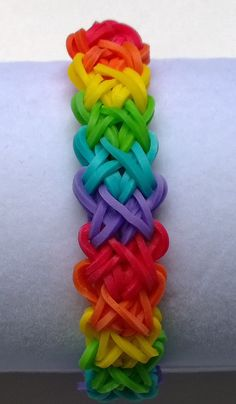 Rainbow Loom Band DoubleX Double X Design by AshleysBands on Etsy, $1.94
