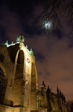 King's College Chapel at night, Old Aberdeen. My great grandfather and his brothers were educated here.