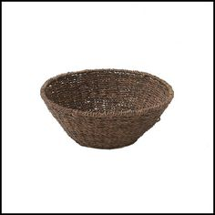 """Our Abaca Large Bowl is a decorative way to serve fruit, bread and more.  Abaca is 100% environmentally friendly.   Handcrafted in the Philippines  Size: 12"""" x 6"""""""