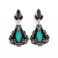 Fashion  earrings 2014 New fashion and pure and fresh and contracted retro atmosphere gem pendant female stud earrings
