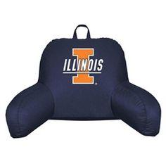 University of Illinois Fighting Illini Bed Rest Backrest Reading Pillow