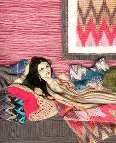 Paula Sanz Caballero   Textile Illustrations by Unit c.m.a , via Behance