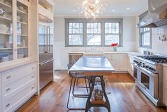 From dumpy and dated 1970's-style kitchen to timeless classic.  Check out the transformation here.