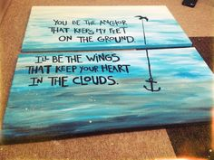 Mayday Parade. You be the anchor. My work. :3