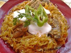 Húsos káposzta Tacos, Pork, Ethnic Recipes, Red Peppers, Kale Stir Fry, Pork Chops