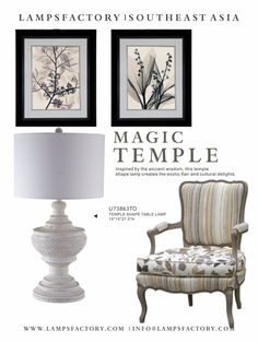 Inspired by the ancient wisdom, this temple shape lamp creates the exotic flair and cultural delights.