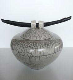 Raku Oriental Vessel by Judith Paisley - www.paisleyceramics.com