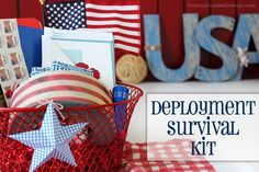 Deployment Survival Gift Basket - I would have loved to receive something like this one of the many times my husband went to sea.