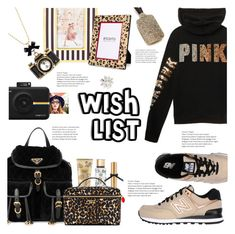 """#PolyPresents: Wish List"" by lisalockhart ❤ liked on Polyvore featuring Henri Bendel, Betsey Johnson, Victoria's Secret, Prada, New Balance, Chico's, Polaroid, contestentry and polyPresents"