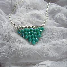 invisiblegarden / Green mist - náhrdelník #necklace #nahrdelnik #handmade