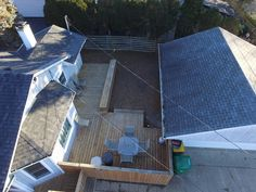Beautiful deck with detached heated garage.