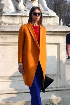 Go Shopping, Ruffle Dress, Autumn Winter Fashion, Color Blocking, Fashion Beauty, Colour Pop, Street Style, Style Inspiration, Blazer