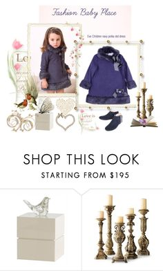 """Eve Children navy polka dress"" by fashionbabyplace ❤ liked on Polyvore featuring Manuela de Juan"