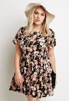 Floral Print Babydoll Dress | Forever 21 Canada