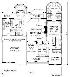 Floorplan The Woodbine House Plan #518-E2