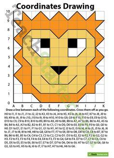 Coordinates Drawing – Lion Teaching Resource
