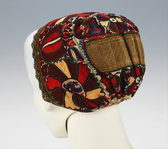 Cap | Slovak | 1840-70 | linen, cotton, silk, metal | Brooklyn Museum Costume Collection at The Metropolitan Museum of Art | Accession Number: 2009.300.2283