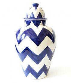 Design Darling Blue Zig Zag Tibor Ginger Jar ($185)