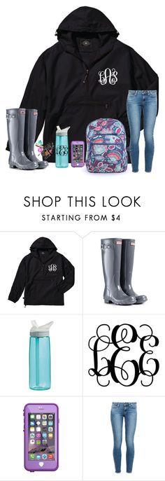 """Rainy day contest"" by hannahmae24 ❤ liked on Polyvore featuring Hunter, CamelBak, LifeProof, Paige Denim and Vera Bradley"