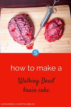 If you're having a Halloween party, you should make this Walking Dead Brain Cake. It's absolutely terrifying! See how to make this scary decoration idea here: http://simplemost.com/diy-make-a-walking-dead-brain-cake-for-halloween?utm_campaign=social-account&utm_source=pinterest&utm_medium=organic&utm_content=pin-description