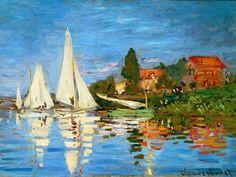 Regatta at Argentiul by Monet
