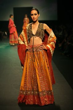 Ritu Kumar's Panchvastra Collection at @Aamby_Valley Bridal Fashion Week Sept, 2012; the Collection centers around five of the most important women in the Ancient Epic Mahabharata.