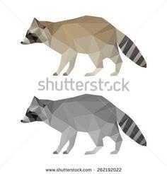 Raccoon set. Abstract Raccoon. Raccoon set. Raccoon. Raccoon icon. Isolated Raccoon. Polygonal Raccoon. Raccoon. Abstract Raccoon. Raccoon icon. Raccoon. Raccoon icon. Raccoon. Raccoon card. Raccoon. - stock vector
